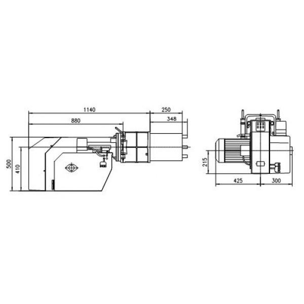 Газовые горелки серии MG 3 схема